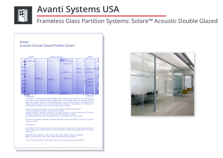 3215-218 Frameless Glass Partition System