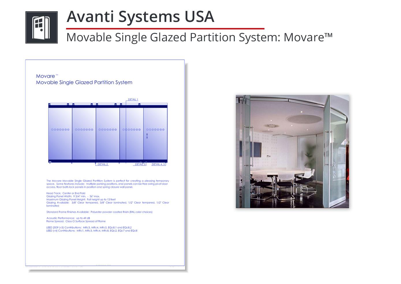 3215-219 Movable Single Glazed Partition System