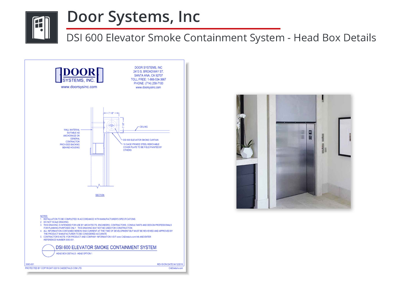 5063-001 Elevator Smoke Containment System