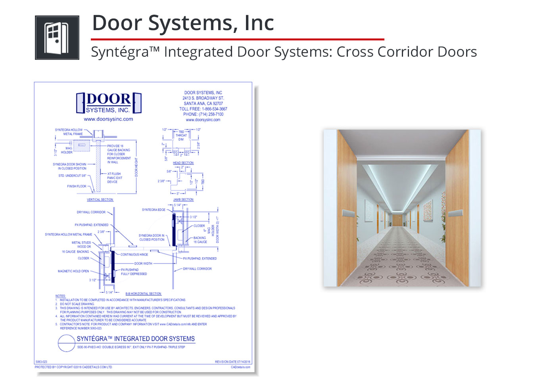 5063-023 Syntegra Integrated Door Systems