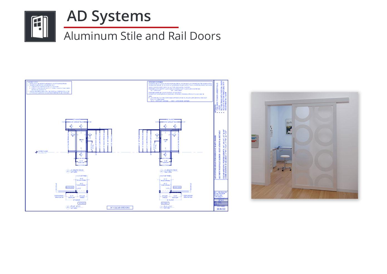 5109-012 Aluminum Stile and Rail Doors