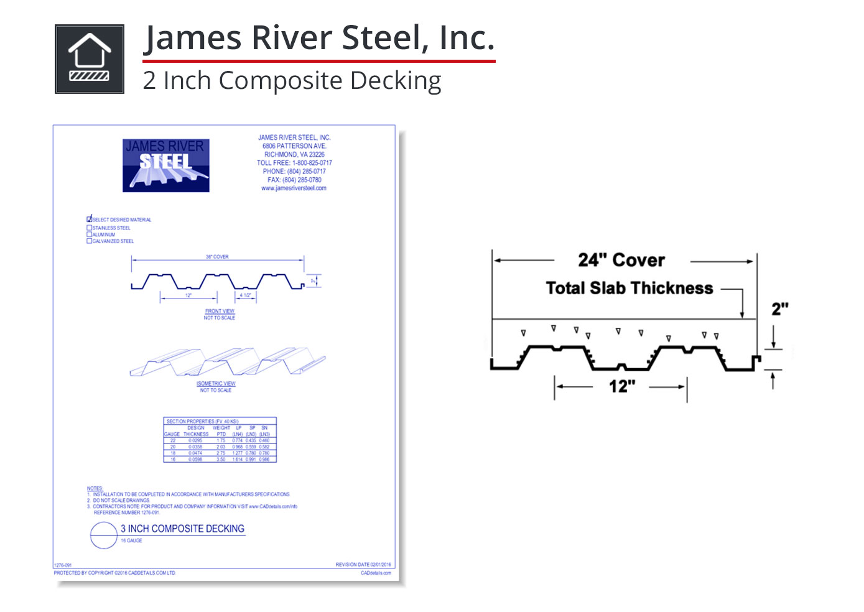 1276-087 2 Inch Composite Decking