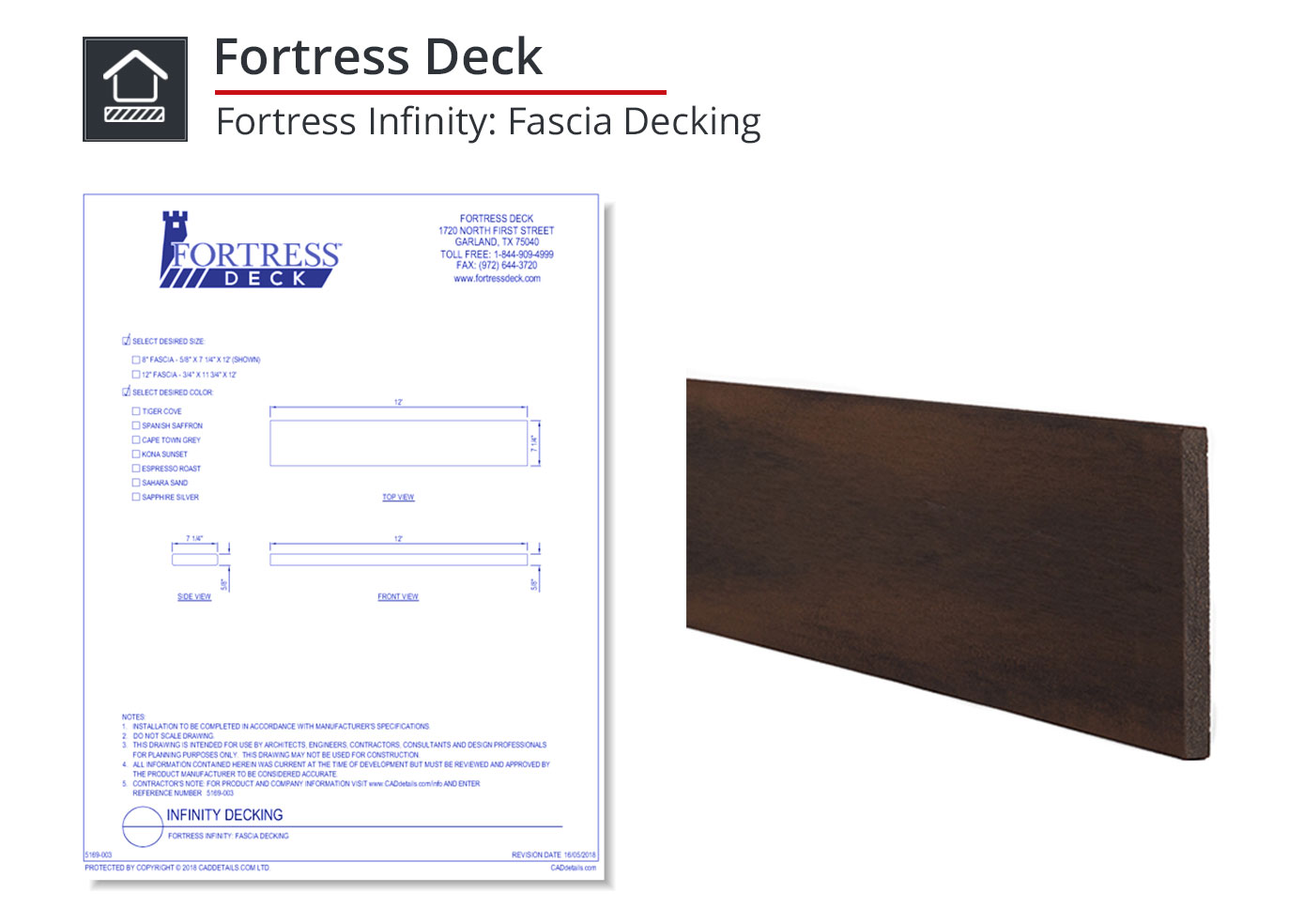 5169-003 Fortress Infinity: Fascia Decking