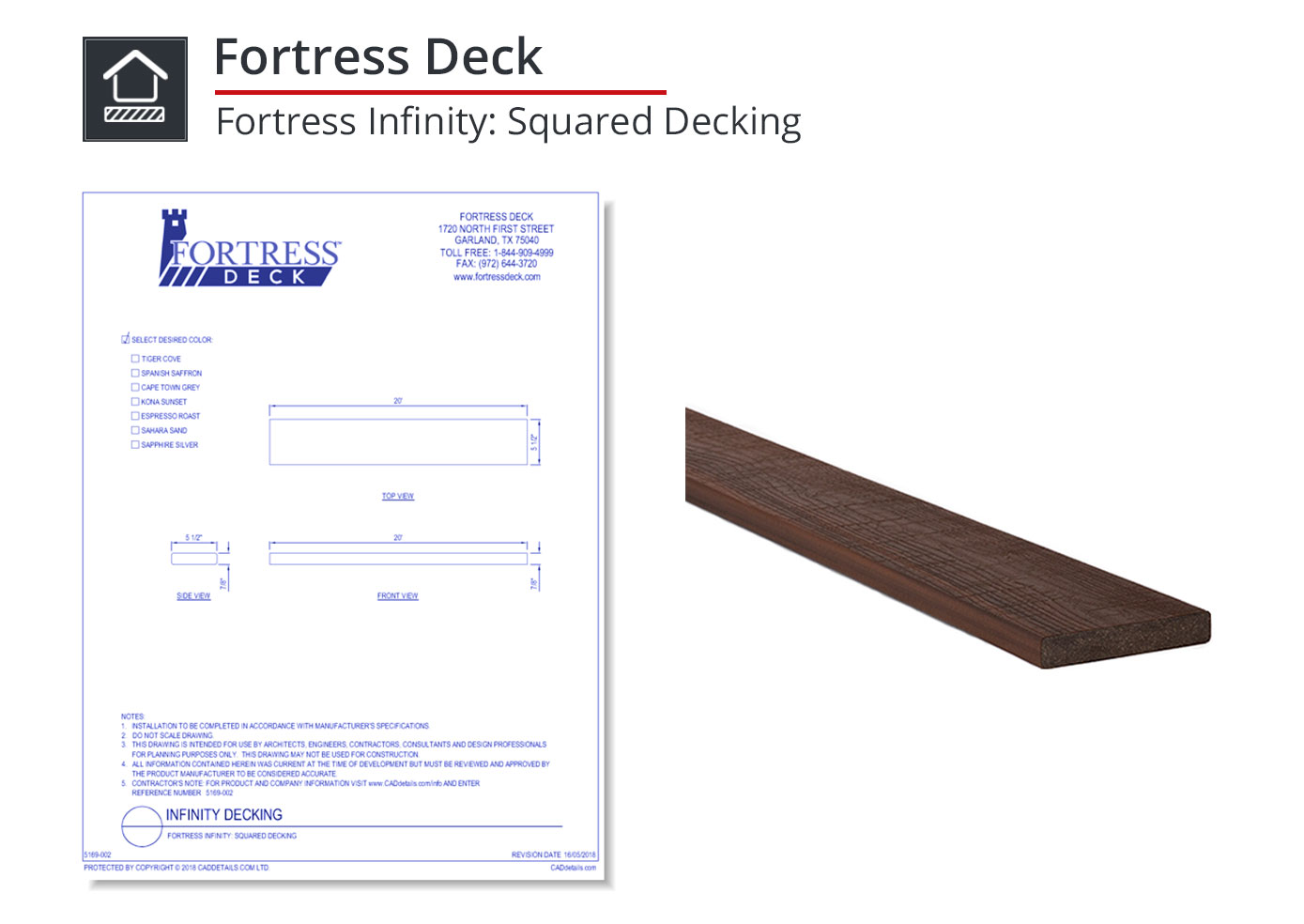 5169-002 Fortress Infinity: Squared Decking