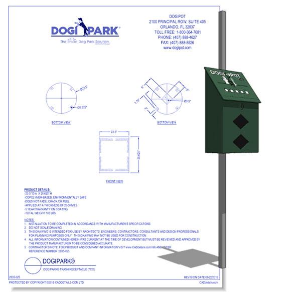 Aluminum DOGIPOT Mini Junior Bag Dispenser