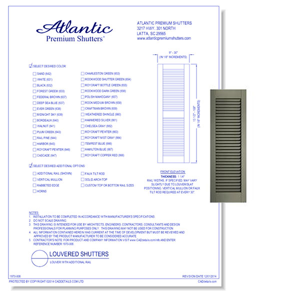 Architectural Louvered Shutters