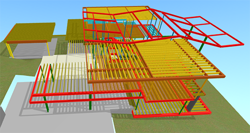 The architect used Kubity to import a Sketchup model for viewing on mobile devices. Image: Mark English Architects