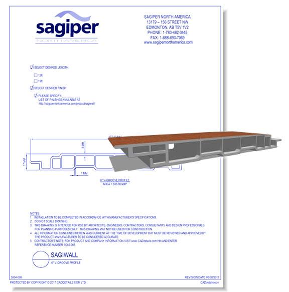"Sagiwall: 6"" V-Groove Profile"