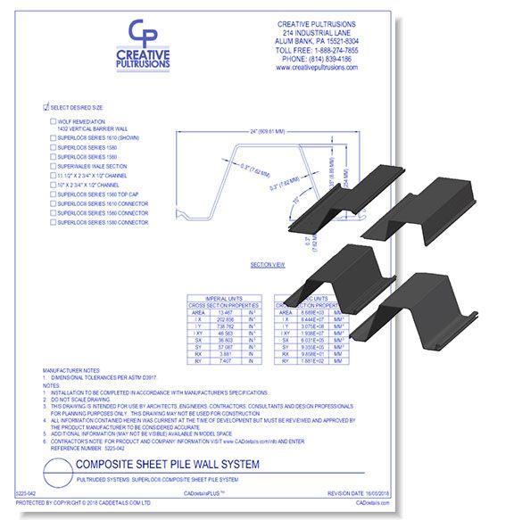 SuperLoc Composite Sheet Pile System