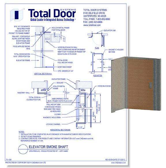 ESS-PK90-LH - Elevator Smoke Shaft Single