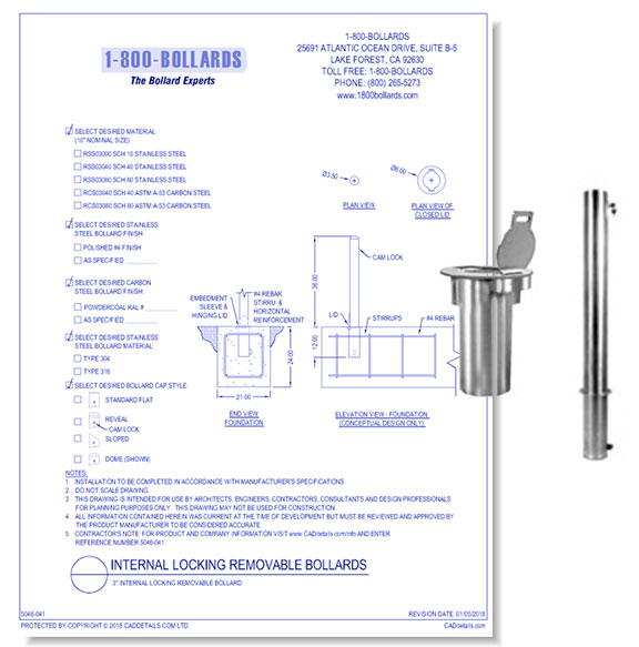 Internal Locking Bollard