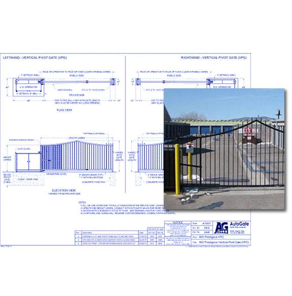 800 Prestigous Vertical Pivot Gate