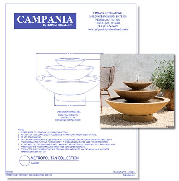 Contemporary Fountains: Cascade