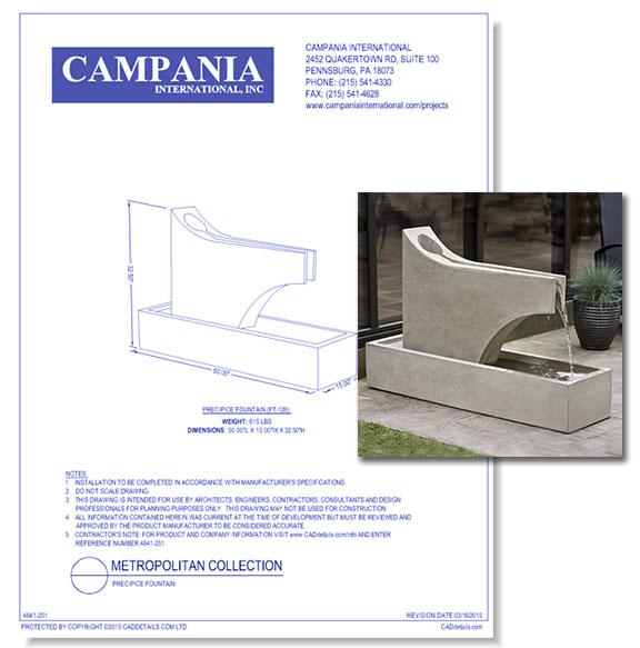 Contemporary Fountains: Precipice Fountain