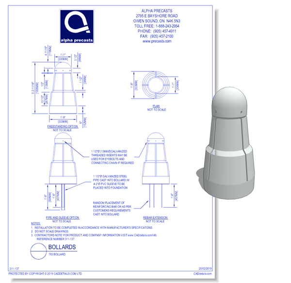 Alpha Type 783 Bollard