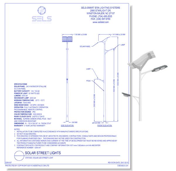 ST9750D | Solar LED Street Light
