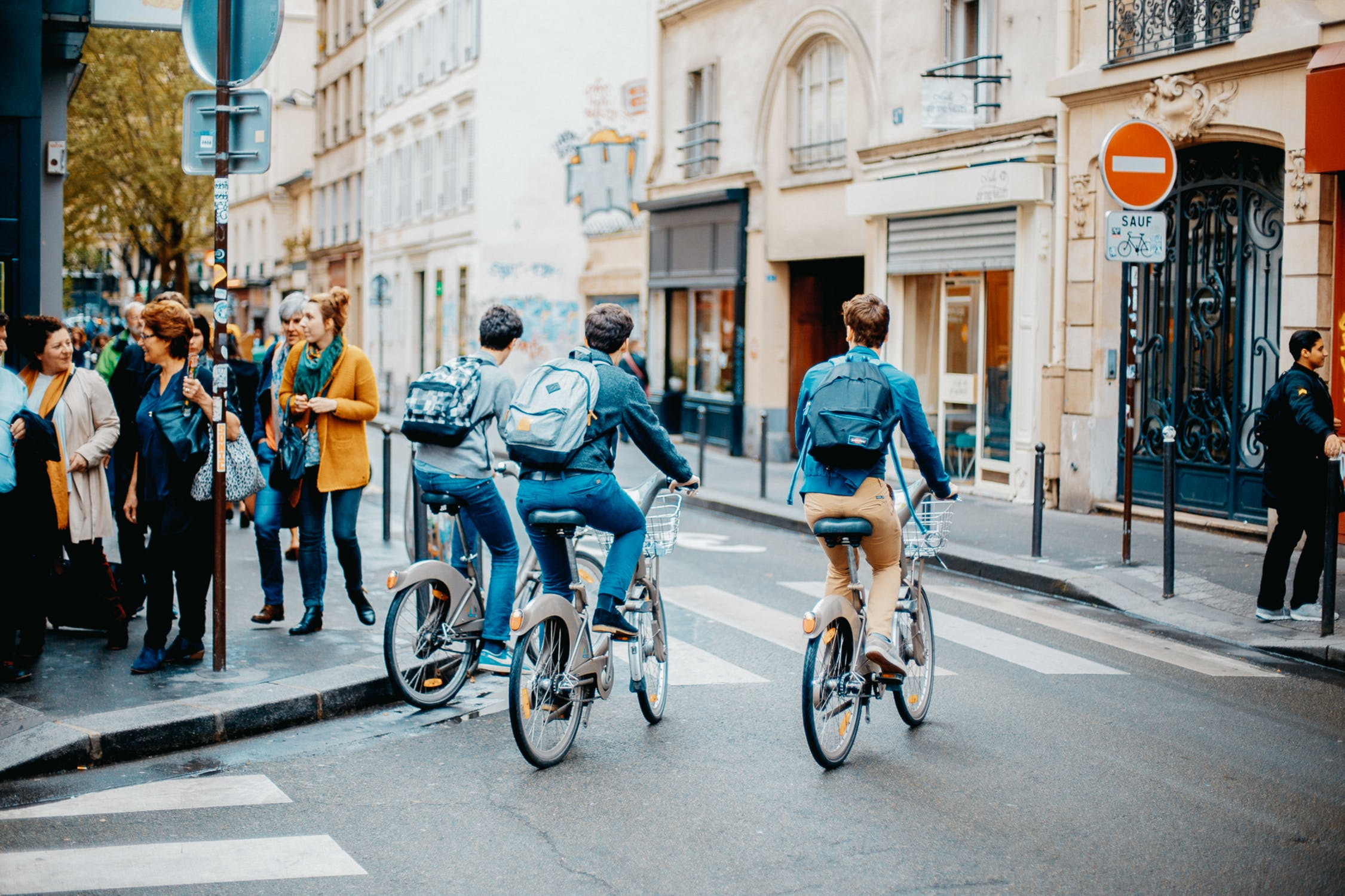 ©  pexels   Above: Ranked as both the healthiest and happiest city in the world, nearly half of commuters in Copenhagen, Denmark,  travel to work or school by bike each day thanks to an extensive and well-designed system of integrated bicycle paths.