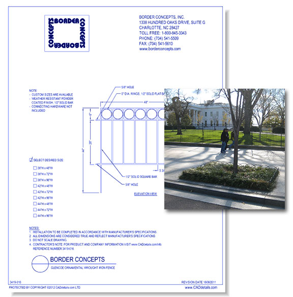 Ornamental Wrought Iron Fence: Glencoe