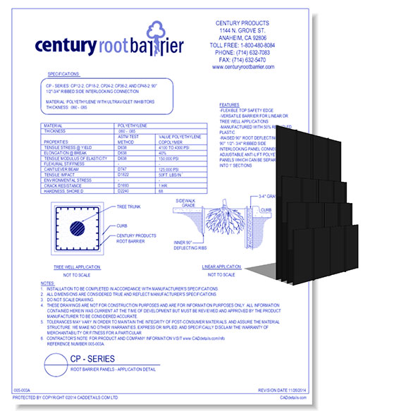 CP Series - Root Barrier Panel