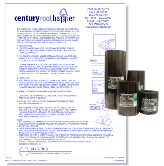 CR-PE Series - Dual Purpose Root Barrier & Water Barrier Rolls