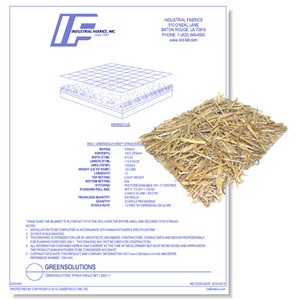 Green Solutions Blankets - Net Straw