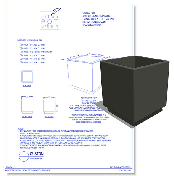 Custom Cube Planter