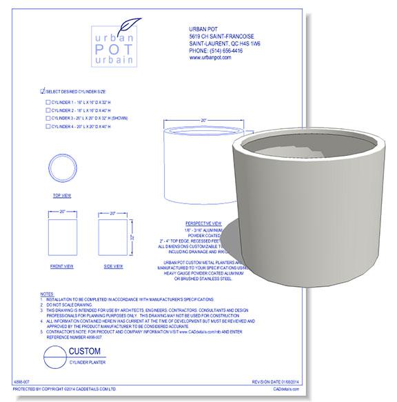 Custom Cylinder Planter