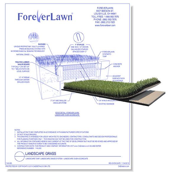 Landscape Grass System: Landscape Over Aggregate