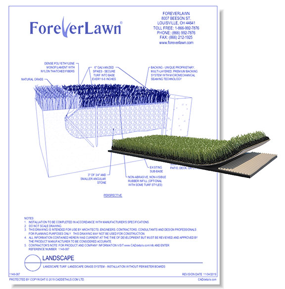 Landscape Grass System: Installation without Perimeter Boards