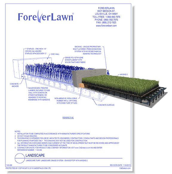 Landscape Grass System: On Rooftop with AirGrid 2