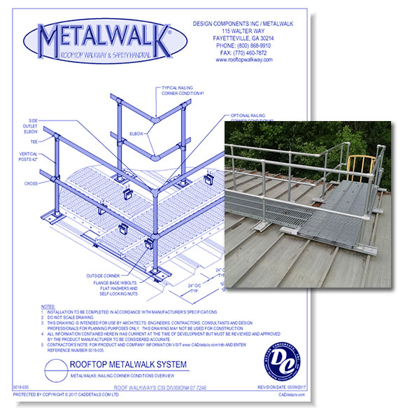 Metalwalk, Walkway Intersection, Parallel & Perpendicular