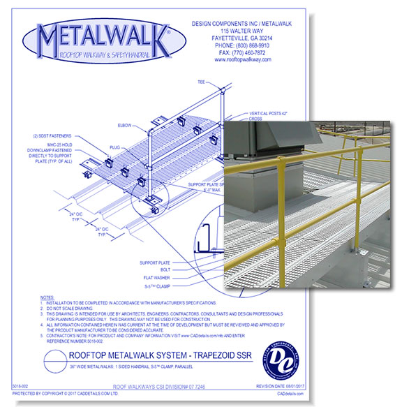 "36"" Wide Metalwalk"