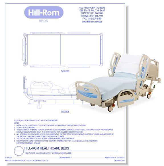 Advanta 2 Medical Surgical Bed