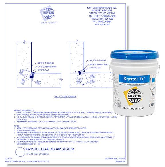 Krystol T! Concrete Waterproofing