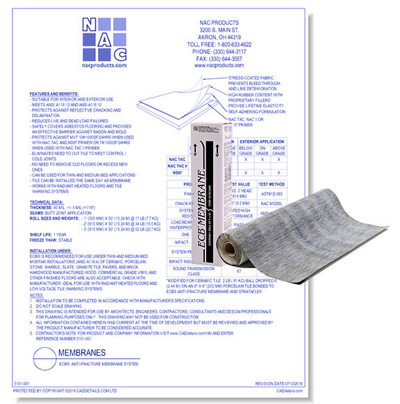 ECB Anti-Fracture Membrane System