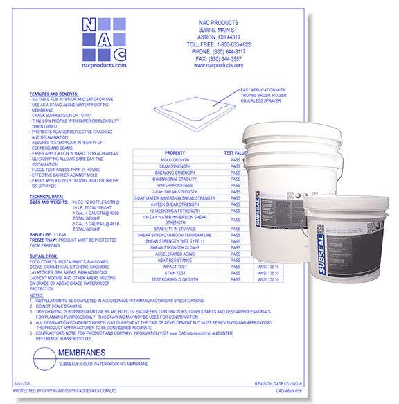SubSeal Liquid Waterproofing Membrane