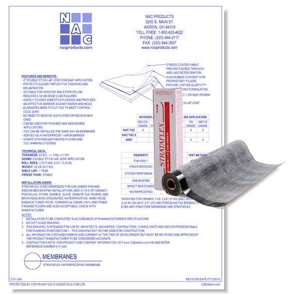 Strataflex Waterproofing Membrane