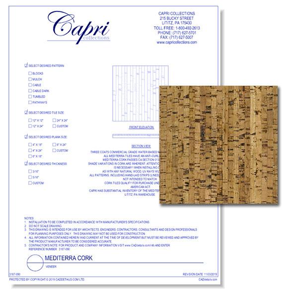 Mediterra Cork Flooring - Veneer