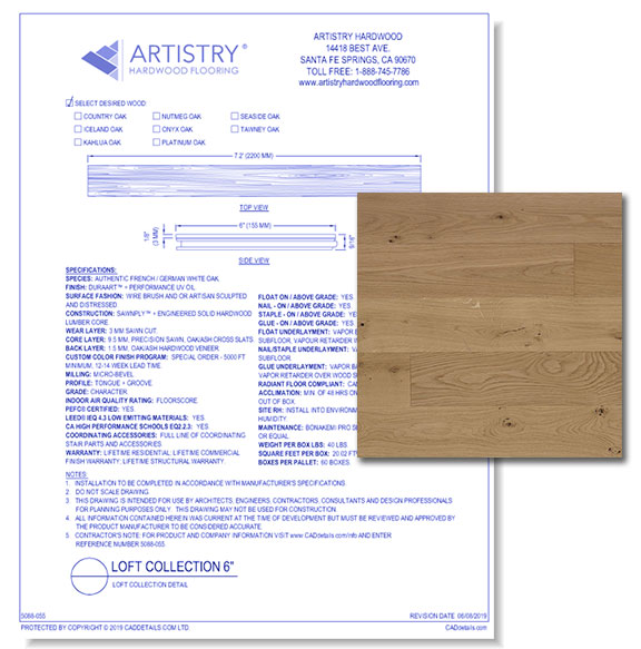 Loft Collection - Country Oak