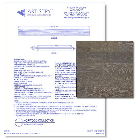 Norwood Collection - Leathered-Grey Oak