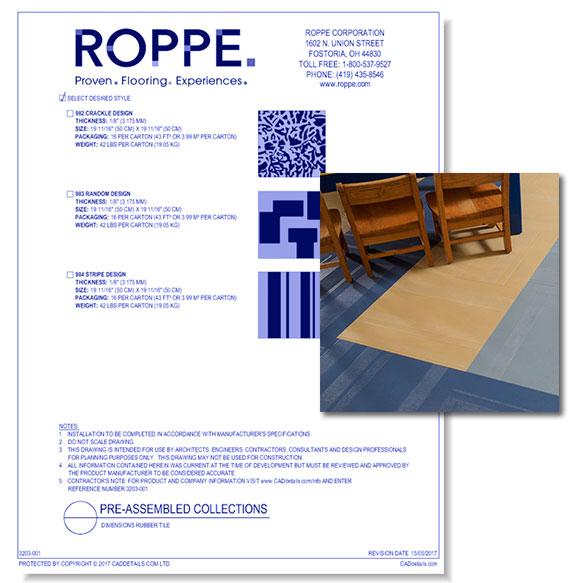 Dimensions Rubber Tile