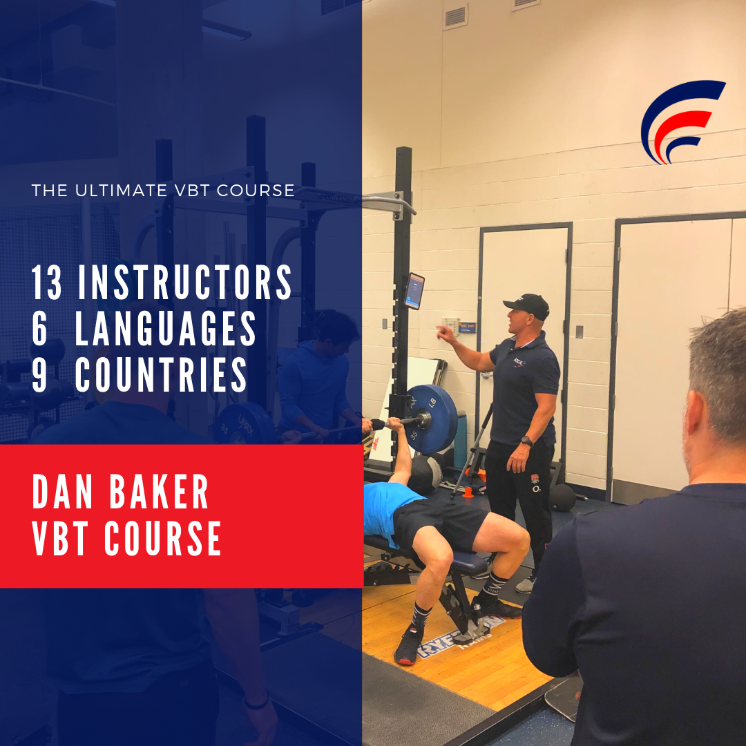 Dan Baker VBT Course - Learn how to utilize Velocity Based Training (VBT) in your day-to-day coaching across the classic barbell lifts, jump testing, and more.
