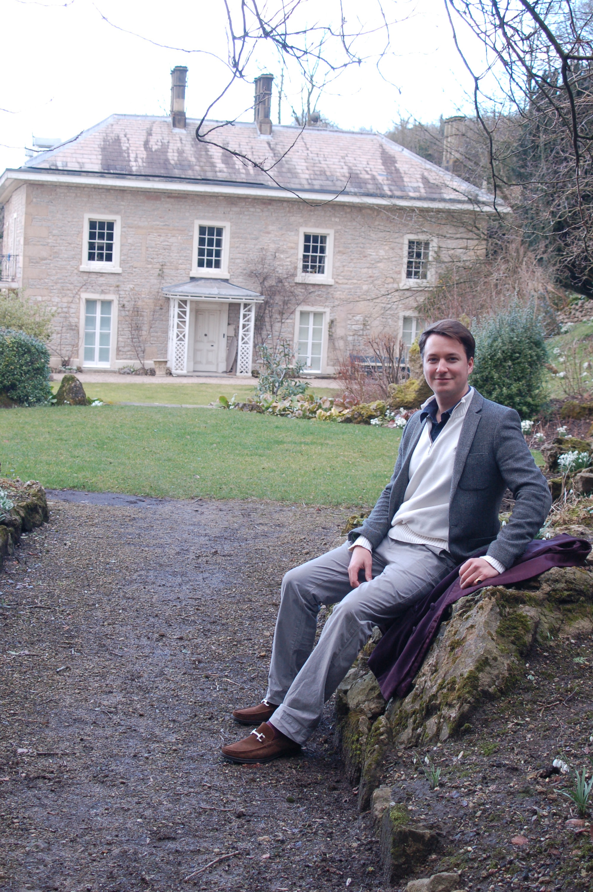 Oliver at home in Derbyshire. Photograph by Elisabeth Stoppard
