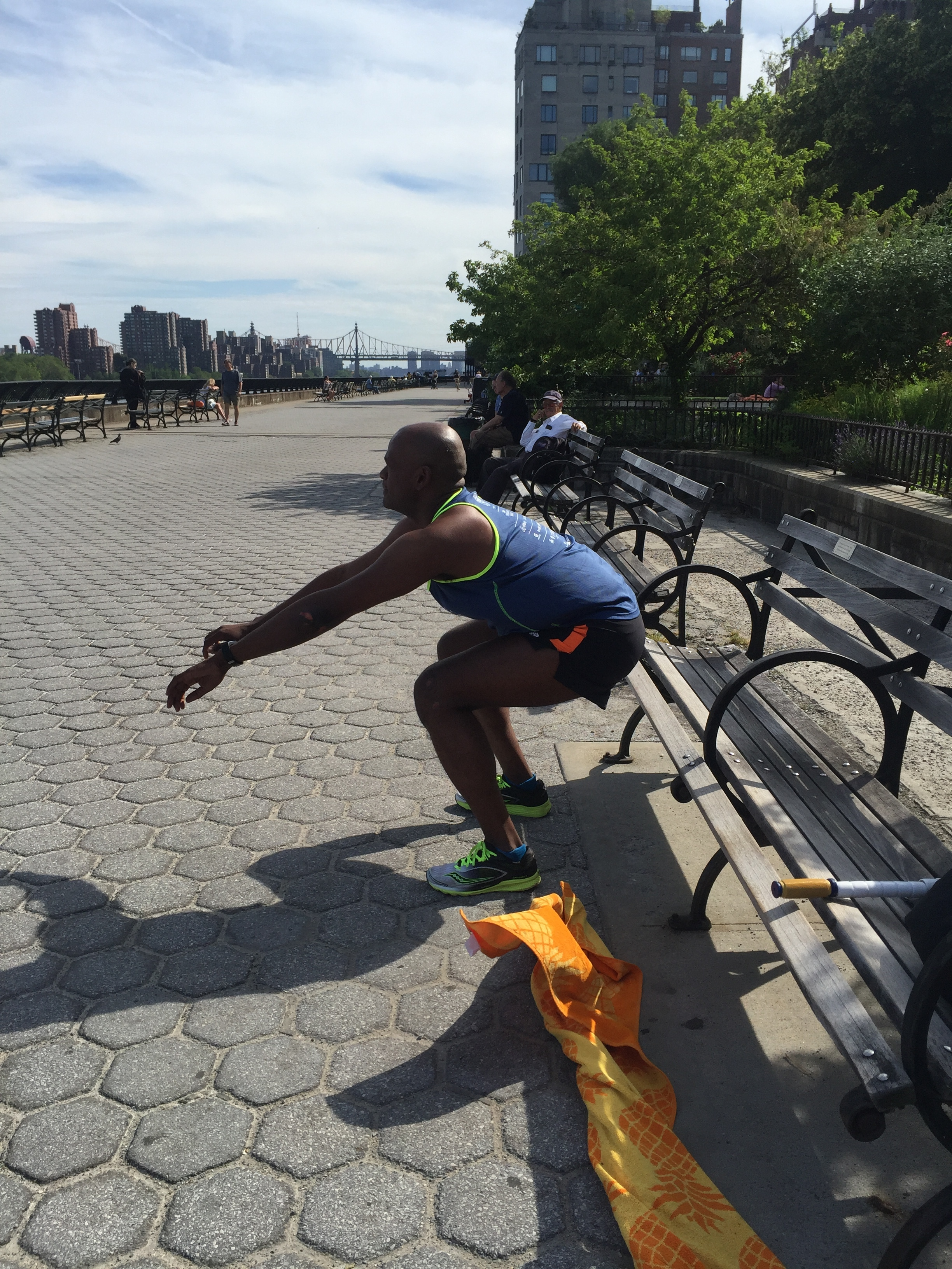 Sheldon's first #RunPainFree session 6/15/16