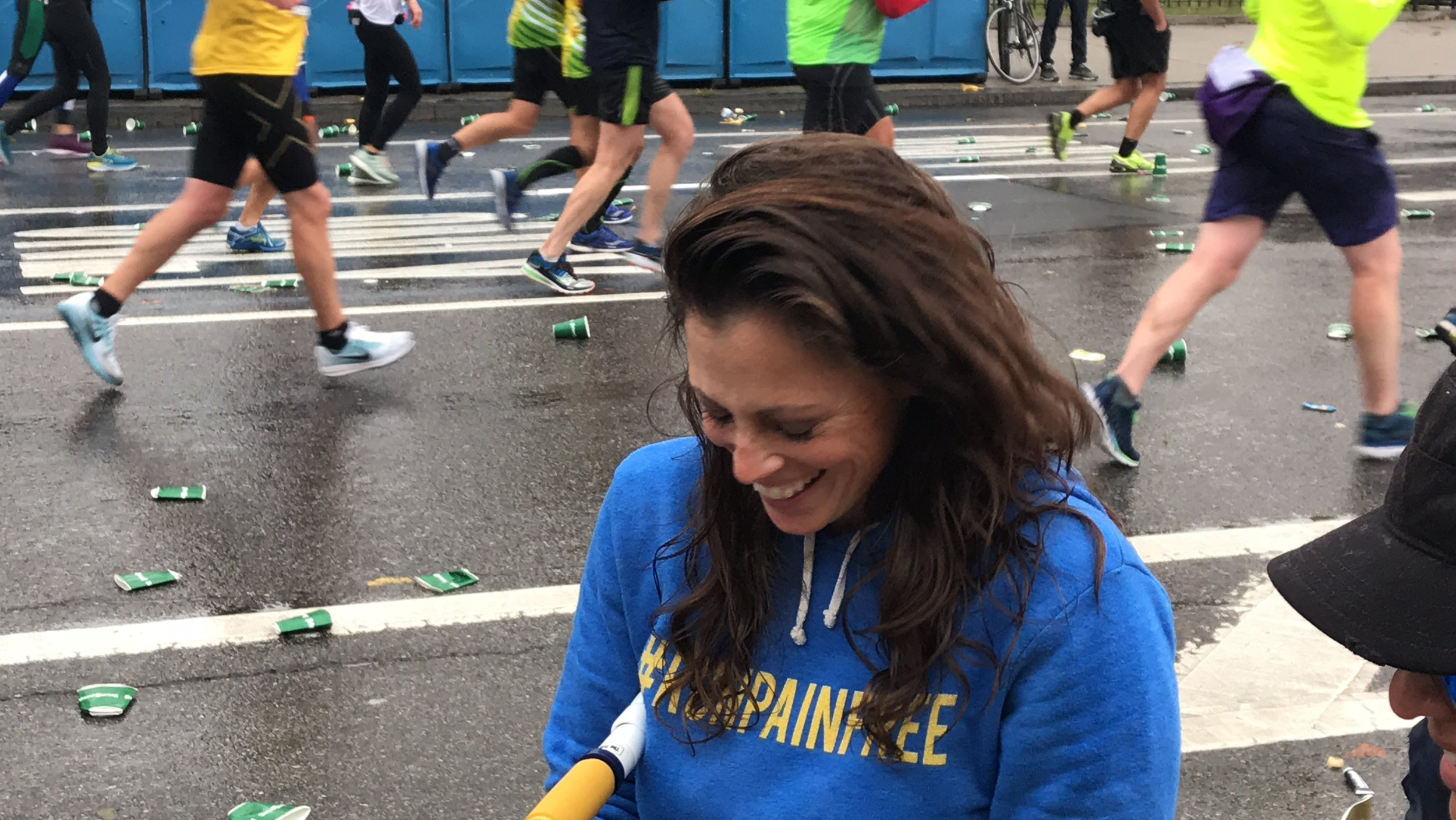 "#RunPainFree is all smiles after helping the runners at the New York City Marathon on November 5, 2017. ""It's my PASSION!"" -Jessica"