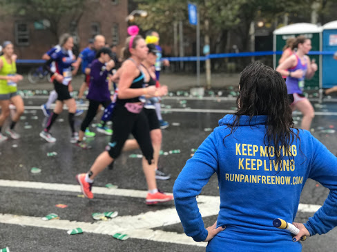 A little rain wasn't enough to stop the #RunPainFree Triage Unit at the 2017 New York City Marathon