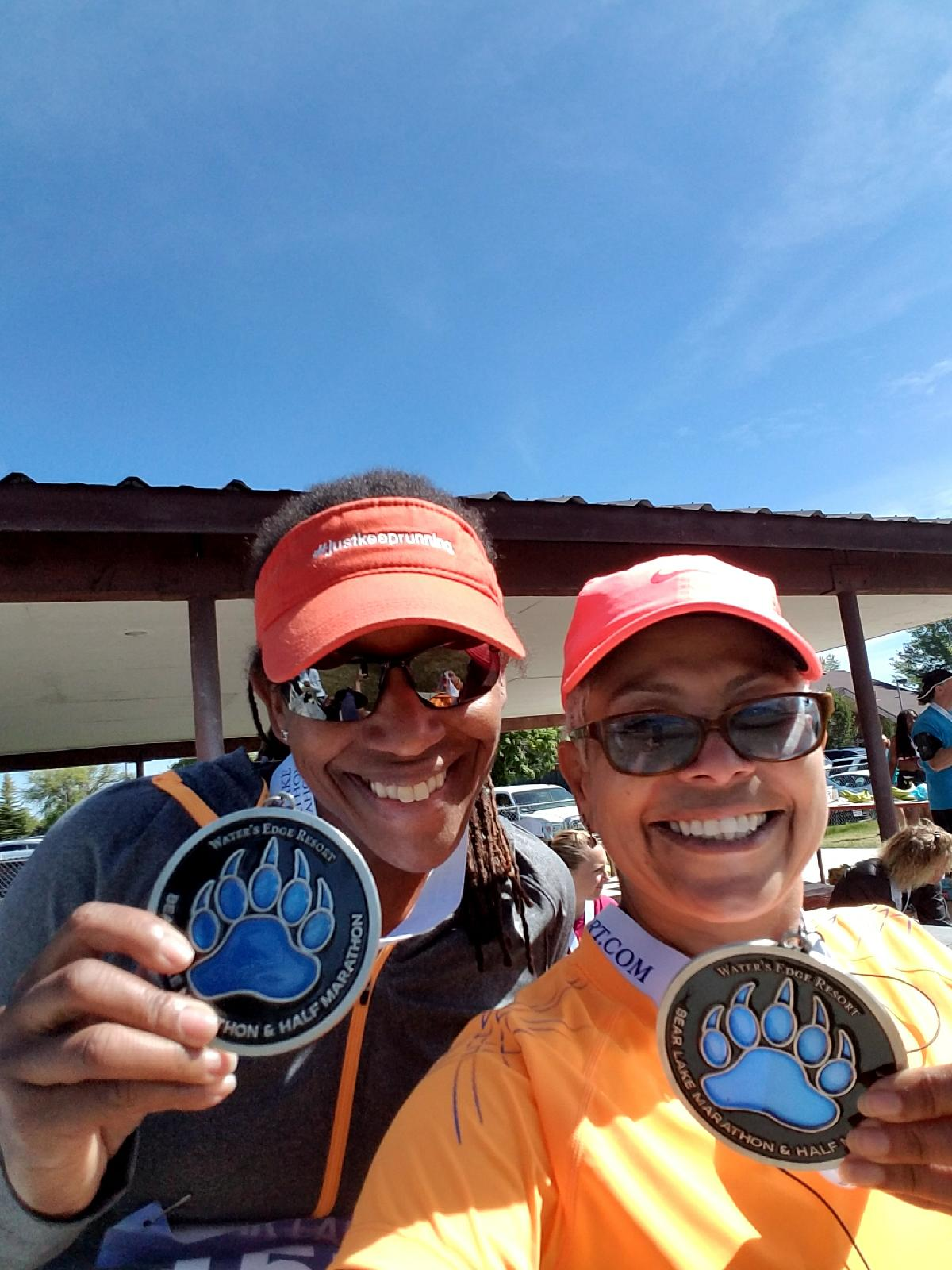 #RunPainFree Ambassadors Ana and Yvette complete the Bear Lake 3 Half Marathons in 3 States 2017