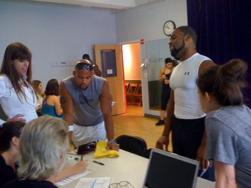 Coach Jessica at the auditions for the Insanity the Asylum and Hip Hop Abs Test group.