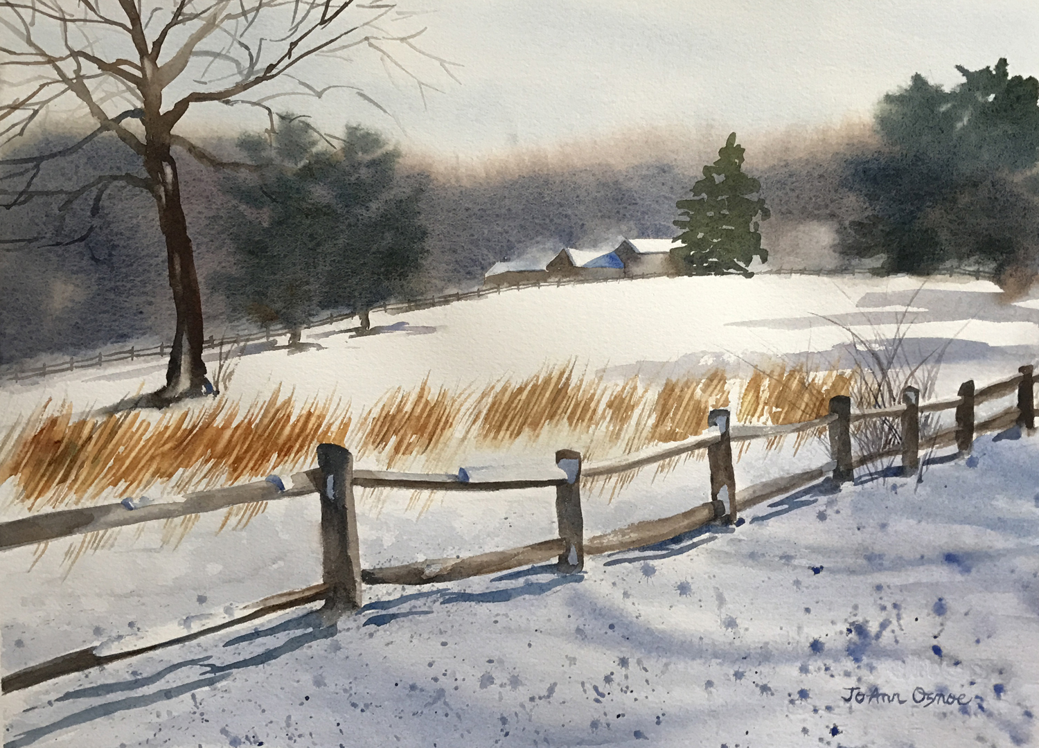 After the Blizzard 2, watercolor