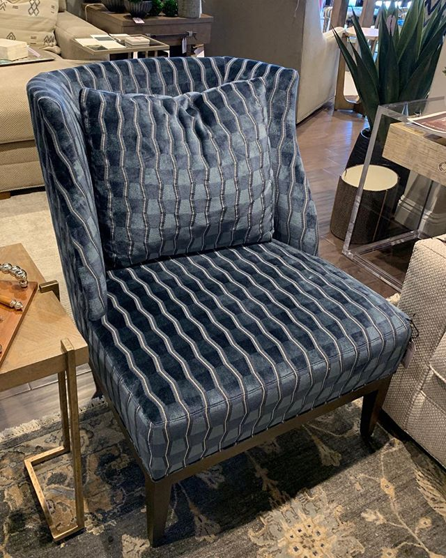 "Nothing like a little luxury . . . Gorgeous use of a Carousel by DeLeo design called "" Lugano"" in the Baltic color!  Special shout-out to Century Furniture—beautiful!!! @deleotextiles @centuryfurniture #scottsdale #velvet @hydeparkinteriors"